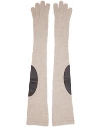 Женские бежевые перчатки от Maison Margiela