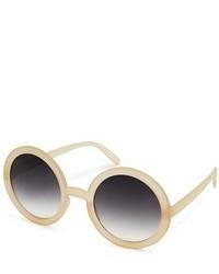 Женские бежевые солнцезащитные очки от Asos