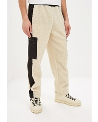 Мужские бежевые спортивные штаны с принтом от Topman