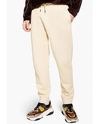 Мужские бежевые спортивные штаны от Topman