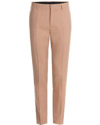 Мужские бежевые шерстяные классические брюки от Maison Margiela