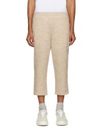 Мужские бежевые шерстяные спортивные штаны от Cottweiler
