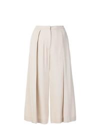 Бежевые широкие брюки от Fabiana Filippi
