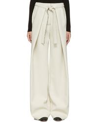 Женские бежевые широкие брюки от Proenza Schouler