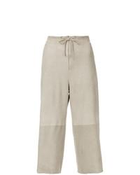Бежевые широкие брюки от Salvatore Ferragamo Vintage