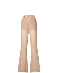 Бежевые широкие брюки от Vionnet