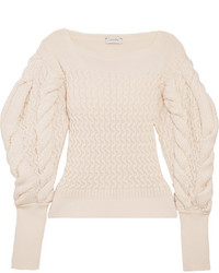 Женский бежевый вязаный вязаный свитер от Lemaire