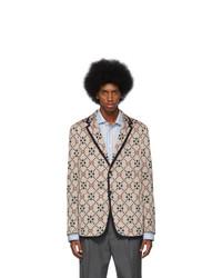 Мужской бежевый вязаный пиджак от Gucci