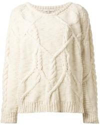 бежевый вязаный свитер original 1337253