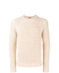 Мужской бежевый вязаный свитер от Barena