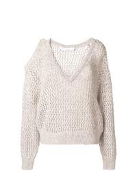 Женский бежевый вязаный свитер от IRO