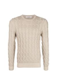 Мужской бежевый вязаный свитер от La Fileria For D'aniello