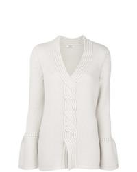 Женский бежевый вязаный свитер от Liska