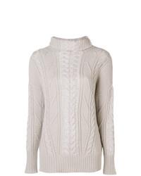 Женский бежевый вязаный свитер от Lorena Antoniazzi