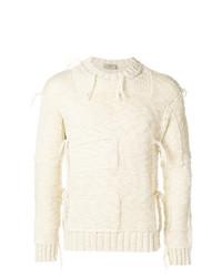 Мужской бежевый вязаный свитер от Maison Flaneur