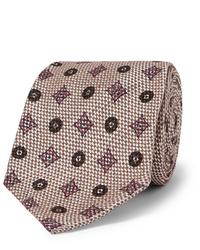 Мужской бежевый галстук с принтом от Rubinacci