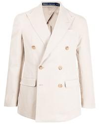 Мужской бежевый двубортный пиджак от Polo Ralph Lauren
