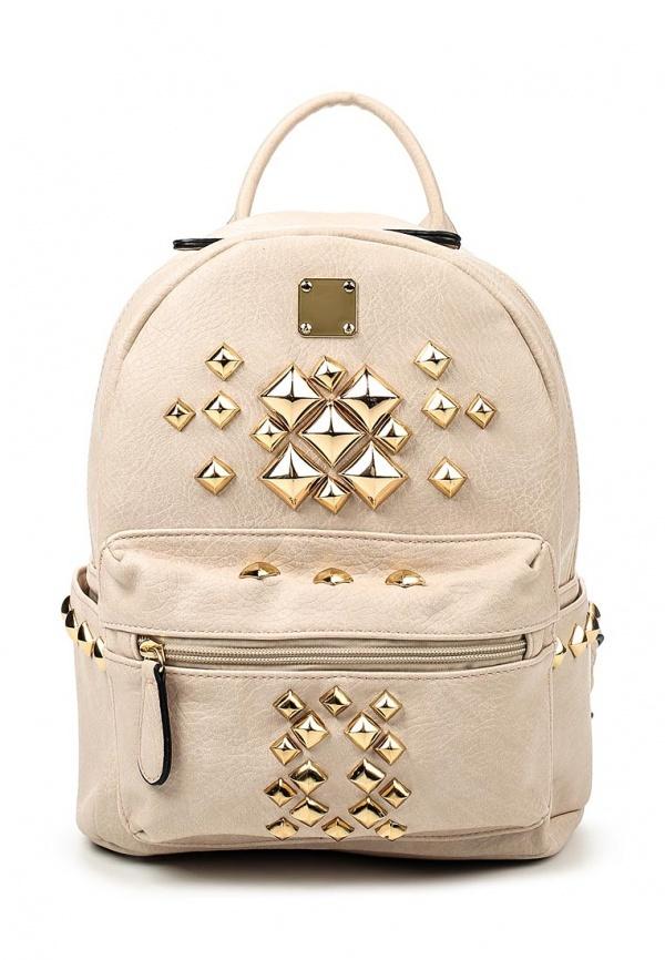 Женский бежевый кожаный рюкзак от Chantal   Где купить и с чем носить 5d7706a731b