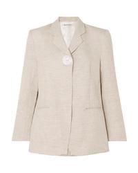 Женский бежевый льняной пиджак от Georgia Alice
