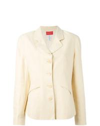Женский бежевый льняной пиджак от Kenzo Vintage