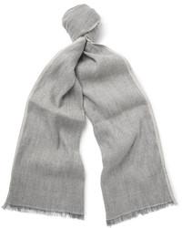 Бежевый льняной шарф