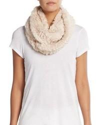 Женский бежевый меховой шарф от La Fiorentina