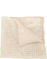 Бежевый нагрудный платок с принтом от Brunello Cucinelli