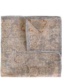 Бежевый нагрудный платок с принтом от Eleventy