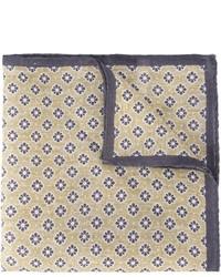 Мужской бежевый нагрудный платок с принтом от Eleventy