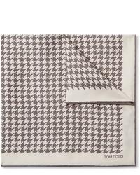 Бежевый нагрудный платок с принтом от Tom Ford