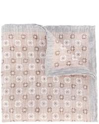 Бежевый нагрудный платок с цветочным принтом от Eleventy