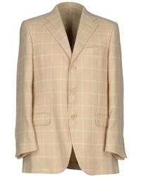 Мужской бежевый пиджак в клетку от Burberry