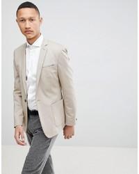 Мужской бежевый пиджак от ASOS DESIGN
