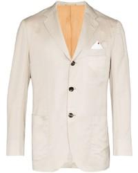 Мужской бежевый пиджак от Kiton