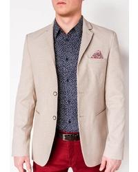Мужской бежевый пиджак от OMBRE