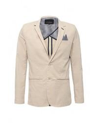 Мужской бежевый пиджак от Top Secret