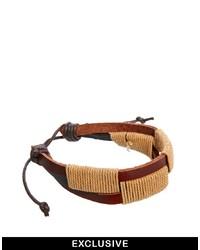 Бежевый плетеный браслет