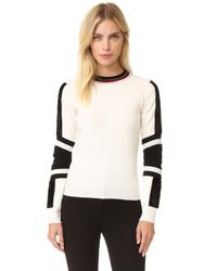 Женский бежевый пушистый свитер с круглым вырезом от Belstaff