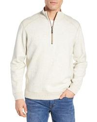 Бежевый свитер с воротником на молнии