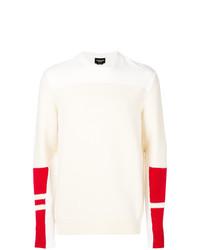 Мужской бежевый свитер с круглым вырезом с принтом от Calvin Klein 205W39nyc