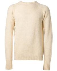 Бежевый свитер с круглым вырезом