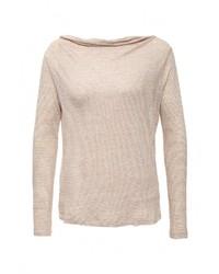 Женский бежевый свитер с круглым вырезом от Armani Jeans