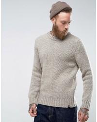 Мужской бежевый свитер с круглым вырезом от Edwin