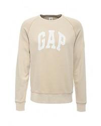 Мужской бежевый свитер с круглым вырезом от Gap