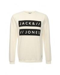 Мужской бежевый свитер с круглым вырезом от Jack & Jones