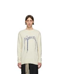 Мужской бежевый свитер с круглым вырезом от Loewe