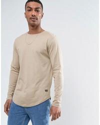 Мужской бежевый свитер с круглым вырезом от ONLY & SONS