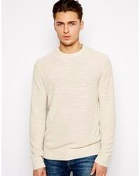 Мужской бежевый свитер с круглым вырезом от Paul Smith Jeans