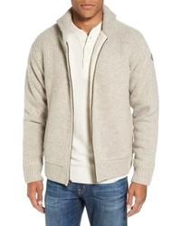Бежевый флисовый свитер на молнии
