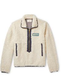 Мужской бежевый флисовый свитер с воротником на молнии от Holiday Boileau